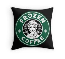 Frozen Coffee Throw Pillow