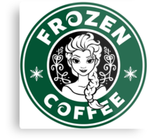 Frozen Coffee Metal Print