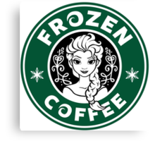 Frozen Coffee Canvas Print