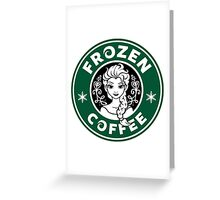 Frozen Coffee Greeting Card