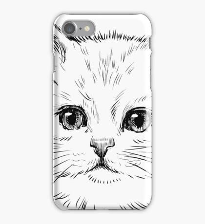 Thick Black Pelted Feline iPhone Case/Skin