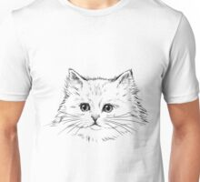 Thick Black Pelted Feline Unisex T-Shirt