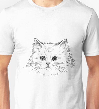 Thick Black Pelted Feline Unisex T-Shirt