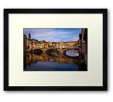 Vecchio Bridge Florence Framed Print