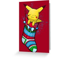 Stocking Pika Greeting Card