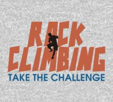 Rock Climbing Take The Challenge One Piece - Short Sleeve