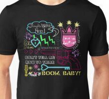 """""""Girl Interrupted"""" Thoughts, Quotes, Sayings, Funny, Humor, Typography, Gun, Hearts, Loaded, Neon, Pink, Blue, Green, Yellow, Thunderbolt, Cloud, Unisex T-Shirt"""