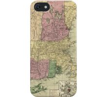 Old Map of New England (circa 1780) iPhone Case/Skin
