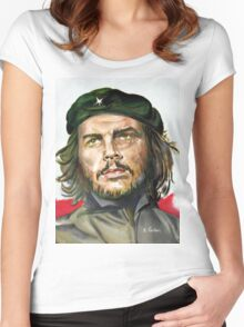 Che Guevara painting poster Women's Fitted Scoop T-Shirt