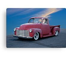 1947 Chevy 'Cosmetically Challenged' Pickup Canvas Print