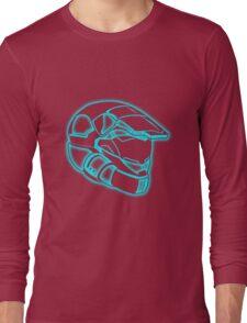 Space Trooper Helmet - Blue Long Sleeve T-Shirt