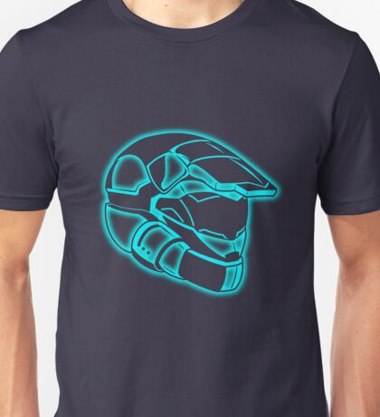 Space Trooper Helmet - Blue Unisex T-Shirt