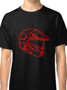 Space Trooper Helmet - Red Classic T-Shirt