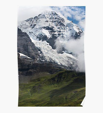 The Monk - Swiss Bernese Alps - Grindelwald - Switzerland Poster