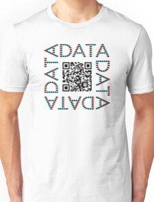 Punchcard data (QR, 3D) Unisex T-Shirt