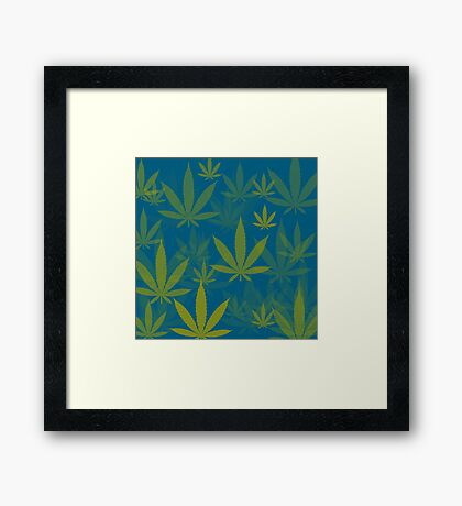 Marijuana Cannabis Weed Pot Indie Colors Framed Print