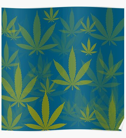 Marijuana Cannabis Weed Pot Indie Colors Poster