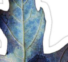 Blue Leaf Sticker  Sticker
