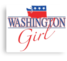 Washington Girl - Red, White & Blue Graphic Canvas Print