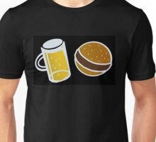Beer and Hamburger Unisex T-Shirt