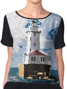 The Chicago Lighthouse Chiffon Top