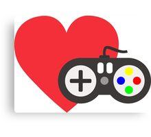 Love Gaming Canvas Print