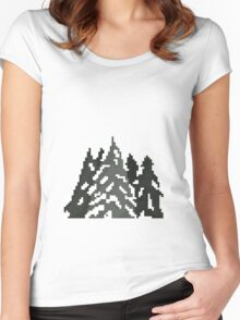 Snowy Trees Women's Fitted Scoop T-Shirt