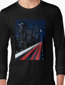Moon in city Long Sleeve T-Shirt