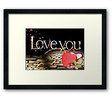 Valentines box Framed Print