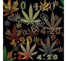 Marijuana Cannabis Weed 420 4:20 All Over The World Photographic Print