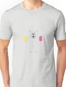 Polar Bear with icecream Unisex T-Shirt