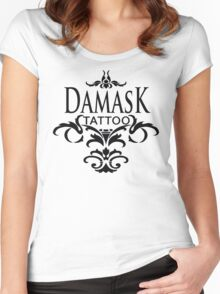 Damask Tattoo  Women's Fitted Scoop T-Shirt