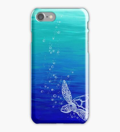White Turtle iPhone Case/Skin