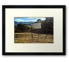 farm, Santa Ysabel, California Framed Print