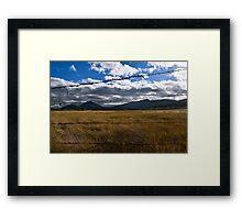 Cleveland National Forest, Julian, California Framed Print