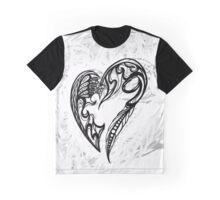 Zen Doodle Heart Snow White 1A Graphic T-Shirt