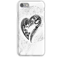 Zen Doodle Heart Snow White 1A iPhone Case/Skin
