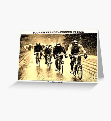 TOUR DE FRANCE; Vintage Frozen in Time Print Greeting Card