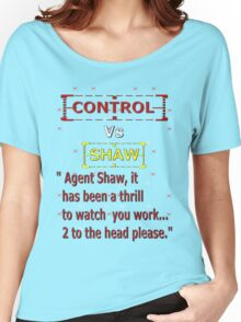 Control Vs Shaw Women's Relaxed Fit T-Shirt