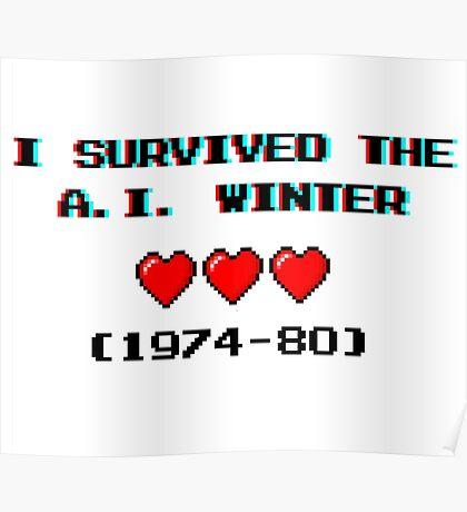 I survived the A.I. winter (8-bit 3D) Poster
