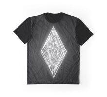 Zen Doodle Diamond Black White Glow Graphic T-Shirt