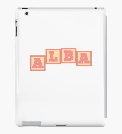 Baby Alba in alphabet building blocks iPad Case/Skin