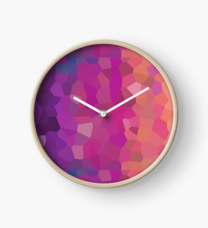 Stained Glass- Abstract Clock