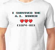 I survived the A.I. winter (8-bit 3D) Unisex T-Shirt
