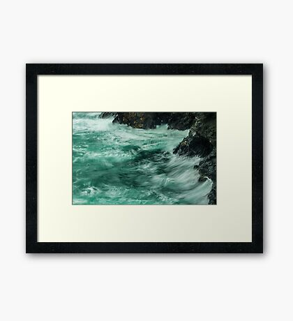 Lapping Tide Framed Print