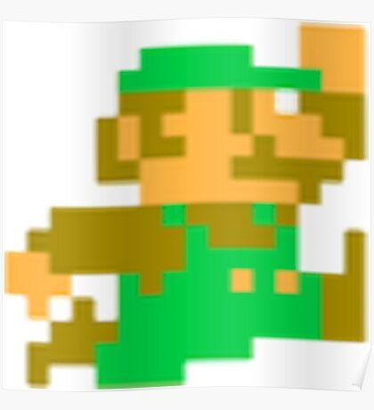 8-Bit Luigi Poster