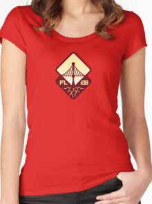Faultline 40K East Bay Red Logo Women's Fitted Scoop T-Shirt