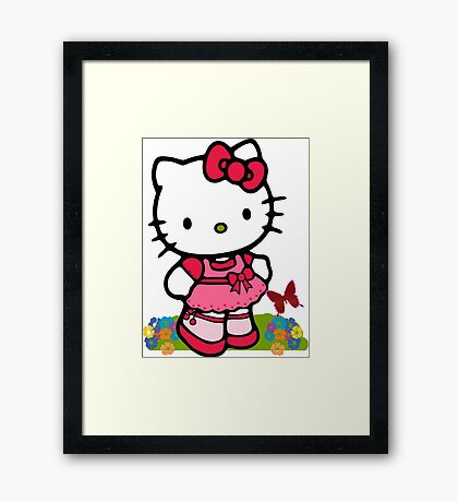 Hello Kitty Cute CA10  Framed Print