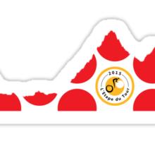 Red Polka Dot 2015 L'Etape du Tour Mountain Profile Sticker