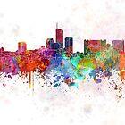 Essen skyline in watercolor background by paulrommer